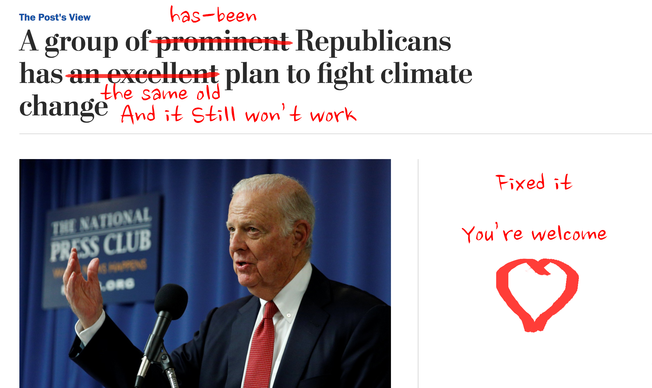 We fixed the coverage on the Carbon Tax