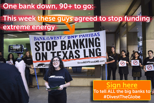 Ran Action Calling on BNP to Divest, and they did!