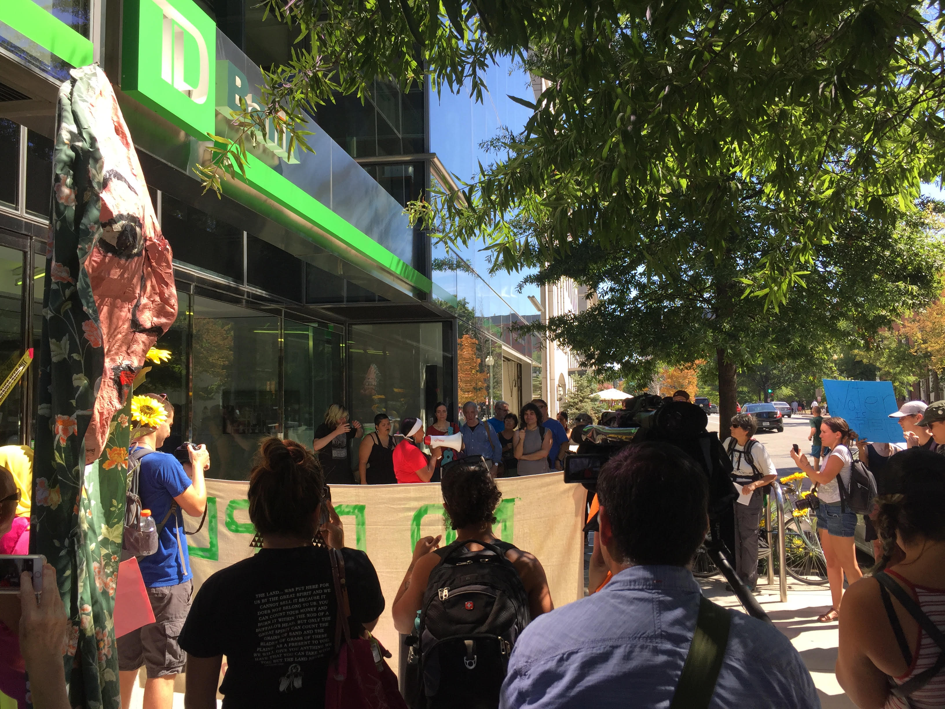 TD bank protest