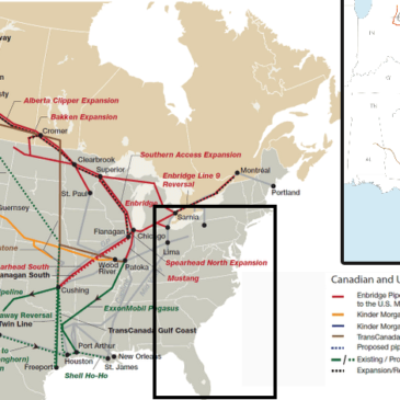 Tar sands and gas pipelines