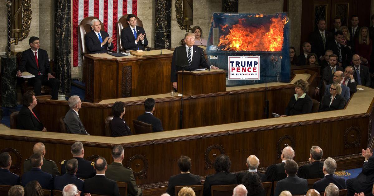 Trump's First SOTU will be a Dumpster Fire