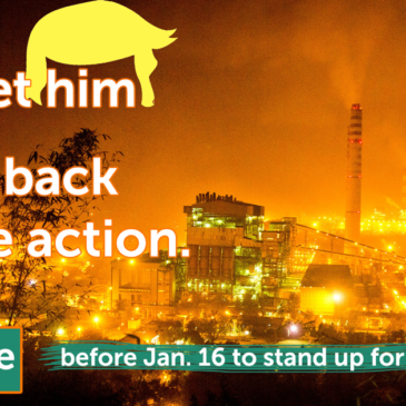 Coal plant - sign by Jan 16