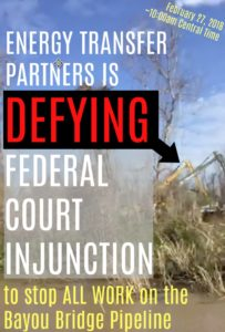 ETP defying federal court injunction