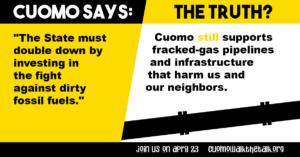 Cuomo Myth fact fracked gas