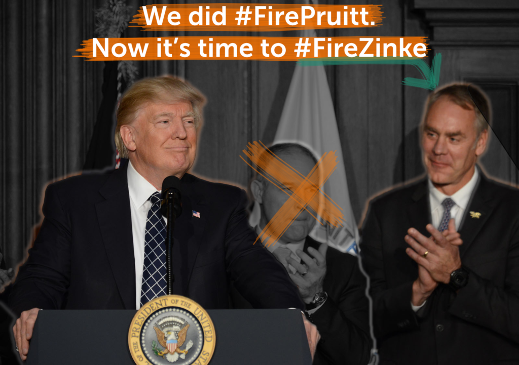 We did #FirePruitt now it's time to fire Zinke