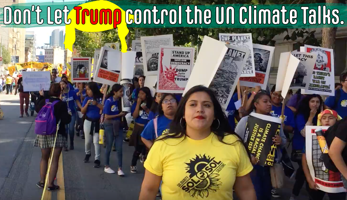 Don't let Trump Control the UN climate Talks
