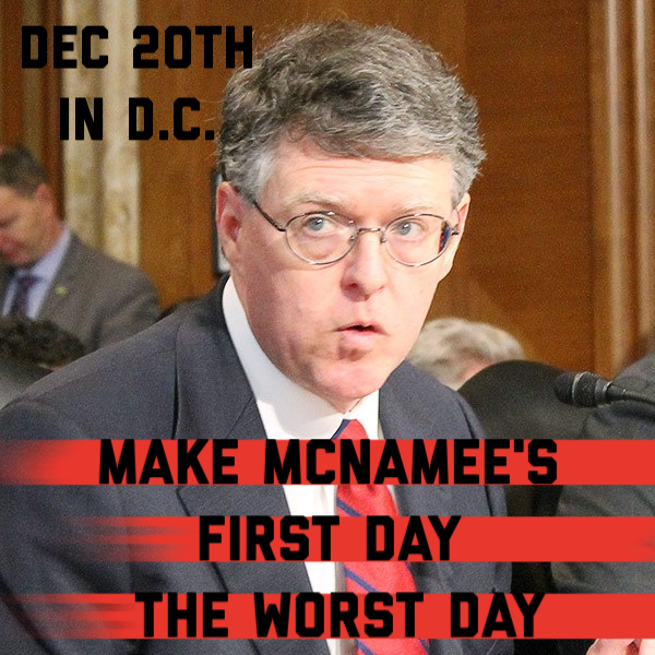 Make McNamee's first day the worst day at FERC