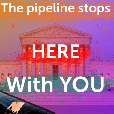 The pipeline stops here, with you