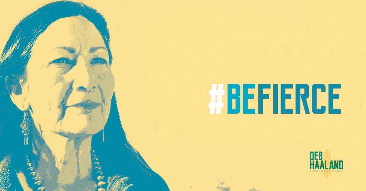 Deb Haaland BeFierce poster