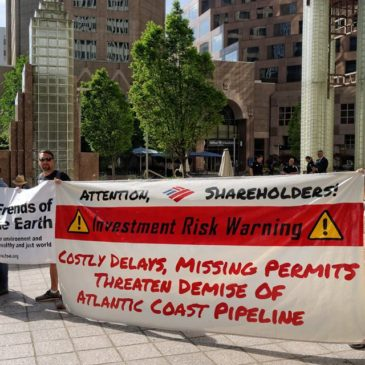 Banner at Bank of America . meeting
