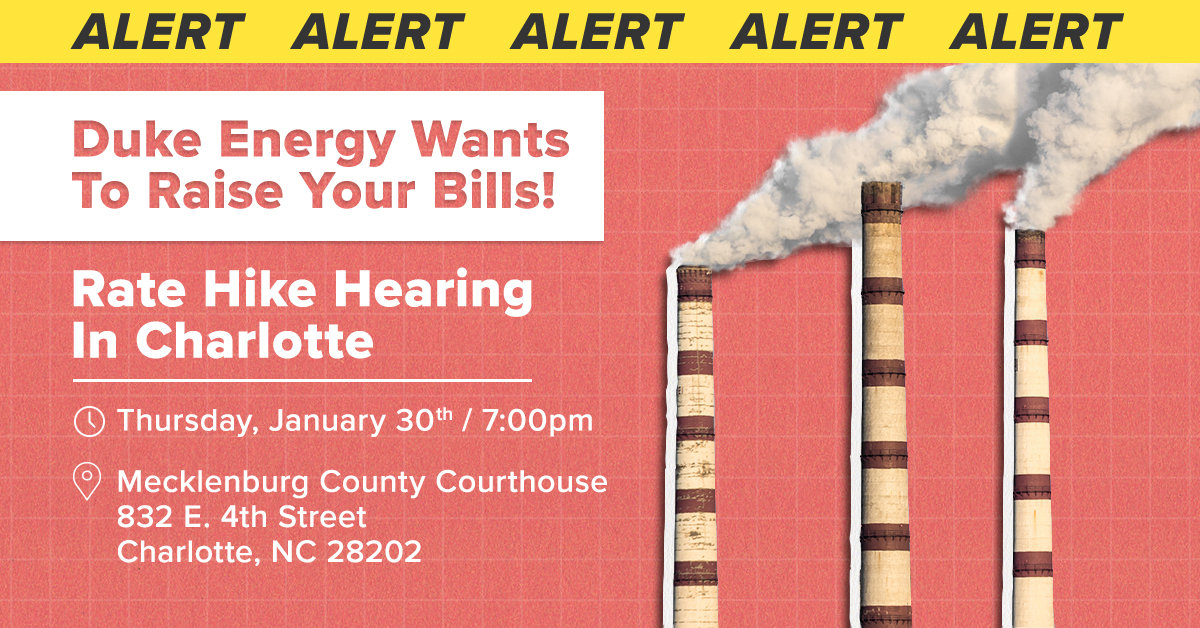 Duke Energy Wants to Raise your bills!
