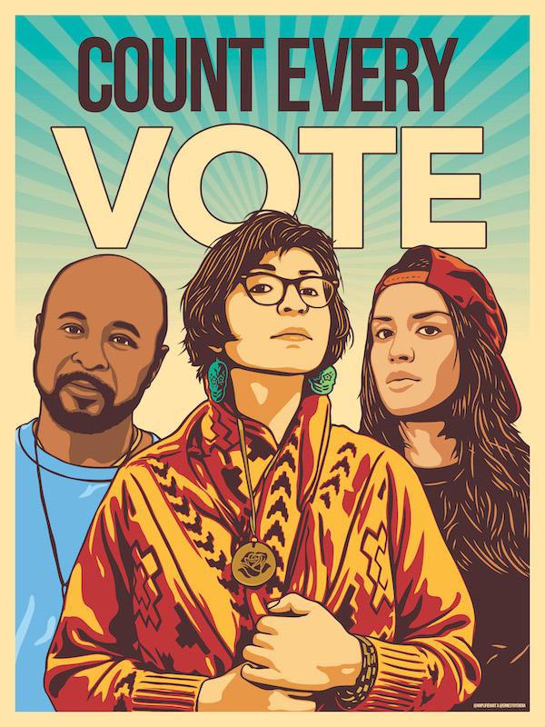 Ernesto Yerena Count Every Vote Poster