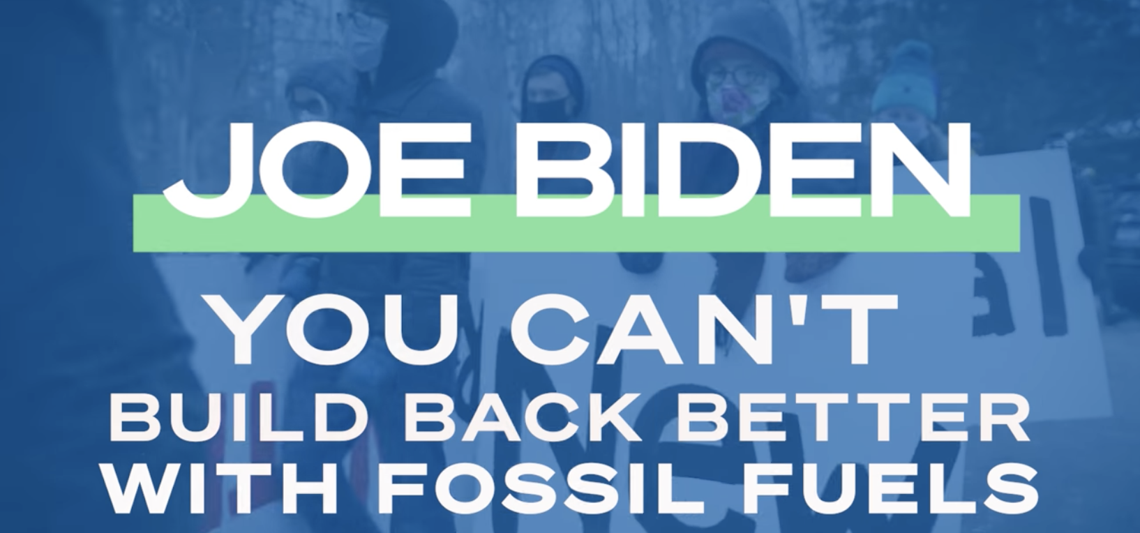 Joe Biden Build Back Fossil Free