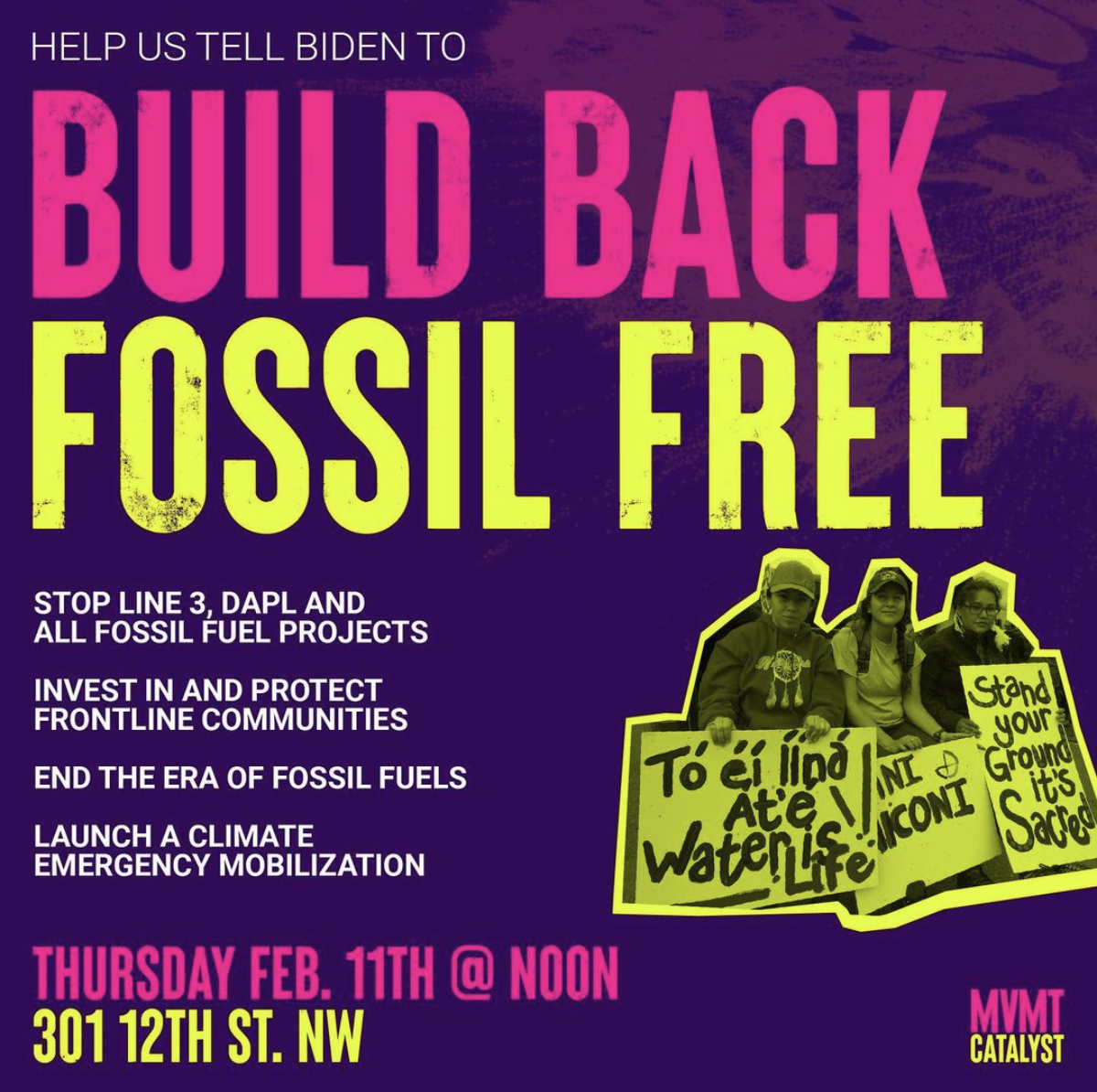 DC Build Back Fossil Free Rally