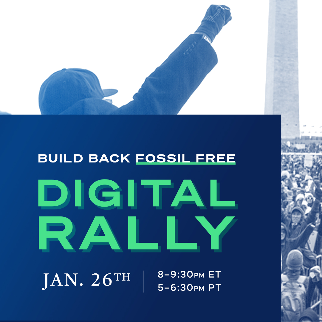 Digital rally to Build Back Fossil Free