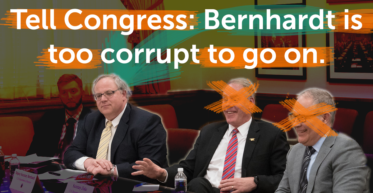 Bernhardt is too corrupt to go on
